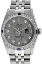 Rolex Datejust 16014 Stainless Steel & 18K White Gold wDiamond & Sapphire Automatic 36mm Mens Watch