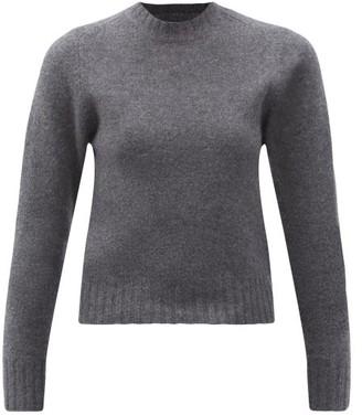Jil Sander Cropped Boiled-wool Sweater - Dark Grey
