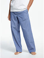 John Lewis Poplin Stripe Lounge Pants, Blue