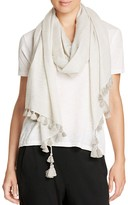 Eileen Fisher Wool Silk Tassel Scarf