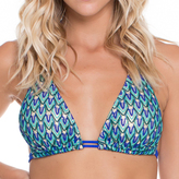 Luli Fama D/DD Cup Triangle Halter Top In Electric blue (L47073Z)