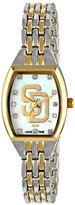 Game Time Women's MLB-WCL-SD World Class Two-Tone Stones Analog Display Japanese Quartz Silver Watch