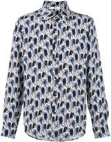Bally allover shoes print shirt - men - Silk - 40