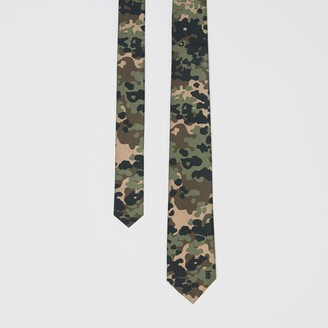 Burberry Classic Cut Camouflage Print Silk Tie