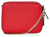 Topshop By Ona Boxy Faux Leather Crossbody Bag - Red