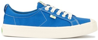 Cariuma OCA Low Washed Blue Canvas Contrast Thread Sneaker