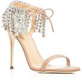 Giuseppe Zanotti Mistico Swarovski Crystal Ankle Tie High Heel Sandals