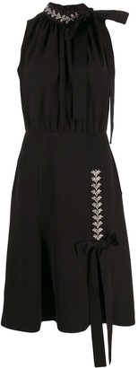 Prada embellished detail midi dress
