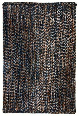 Gracie Oaks Team Spirit Vertical Stripe Rectangle Braided Rugs - Navy Orange Rug Size: Runner 2' x 8'