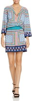 Laundry by Shelli Segal Pattern Block Drawstring Dress