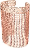 Rebecca Melrose Rose Gold Over Bronze Mesh Bracelet