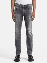 Calvin Klein Straight Tapered Faded Black Jeans