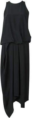Chalayan Tuck Drape asymmetric dress