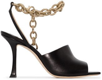 Jimmy Choo chain-link Sae 90mm sandals