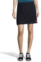 Prada Pre-owned Jersey-trimmed Appliquéd Twill Mini Skirt.