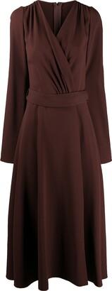 Dolce & Gabbana Belted Longuette Dress