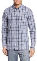 Ted Baker Men's Extra Trim Fit Blue Check Sport Shirt