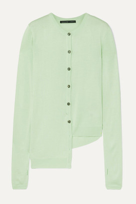 ANDERSSON BELL Asymmetric Cutout Modal Cardigan - Mint