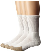 Thorlos Tennis Crew Thick Cushion 3-Pair Pack Crew Cut Socks Shoes