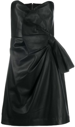 RED Valentino Strapless Leather Dress