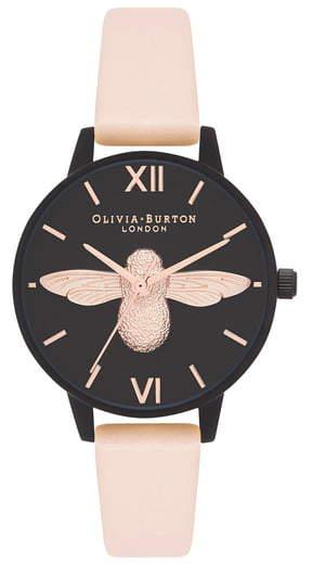 Olivia Burton After Dark Leather Strap Watch, 30mm