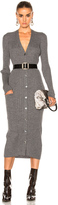 Maison Margiela Gauge Wool Rib Cardigan Dress