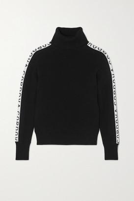 Cordova Intarsia Merino Wool Turtleneck Sweater - Black