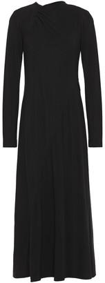 Victoria Beckham Two-tone Stretch-crepe Midi Dress