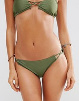Playful Promises Skinny Twist Side Bikini Bottom