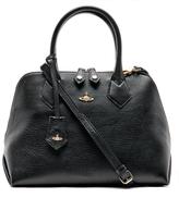 Vivienne Westwood Women's Balmoral Grain Leather Zip Around Tote Bag Black