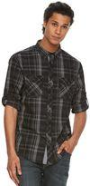 Rock & Republic Big & Tall Modern Plaid Button-Front Shirt