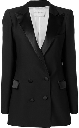 Hebe Studio Double-Breasted Fitted Blazer