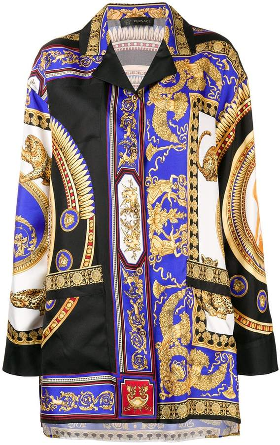 Versace The Lovers print shirt