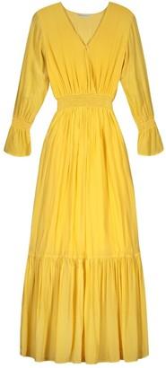 HOLZWEILER Yellow Viscose Dresses