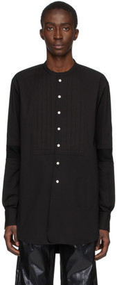 TAKAHIROMIYASHITA TheSoloist. Black Band Collar Shirt
