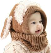 Soficy Lovely Winter Baby Kids Girls Boys Warm Woolen Coif Hood Scarf Caps Hats
