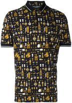 Dolce & Gabbana musical print polo shirt - men - Cotton - 46