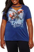 Freeze Short Sleeve V Neck Marvel Graphic T-Shirt