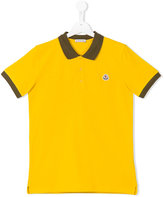 Moncler colour block polo shirt - kids - Cotton - 14 yrs