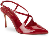 Sergio Rossi Red Bon Ton Pointed Toe Slingback Pumps