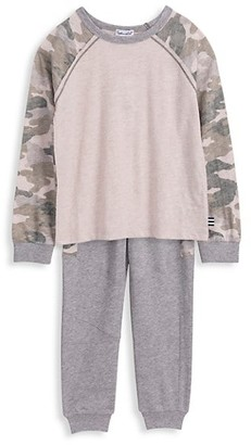 Splendid Little Boy's 2-Piece Camo-Print Sweatshirt & Joggers Set