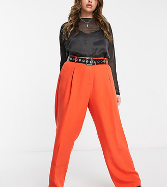 Collusion Plus tailored straight leg pants in red