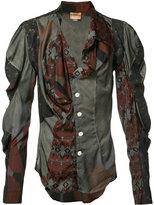 Vivienne Westwood mutton sleeve printed shirt - unisex - Silk/Polyamide/Spandex/Elastane - 2