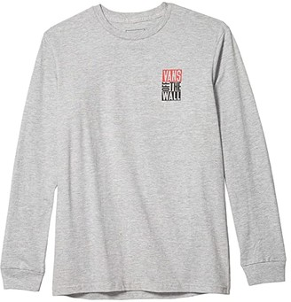 Vans Kids New Stax Long Sleeve Tee (Big Kids) (Athletic Heather) Boy's Clothing