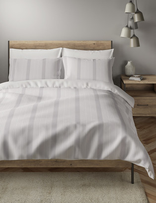 Marks and Spencer Cotton Rich Striped Bedding Set