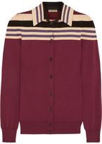 Bottega Veneta Striped Wool-blend Cardigan