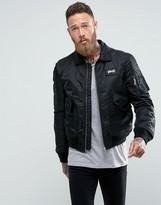 Schott CWU Nylon Flight Bomber Slim Fit in Black