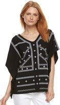 Dana Buchman Women's Embroidered Caftan Top