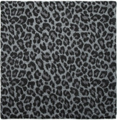 N.Peal Cashmere Leopard-print cashmere and silk-blend scarf