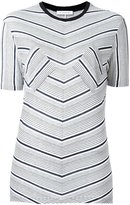 J.W.Anderson striped T-shirt - women - Viscose - M
